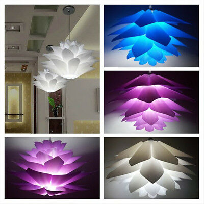 Modern Lotus 50 CM DIY IQ Puzzle Jigsaw Pendant Light Shade Ceiling Lampshade