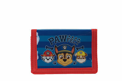 Paw Patrol Chase Tri-Fold Wallet Hook and Loop Blue Kids Boys