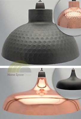 Dome Light Fitting Lamp Shade Ceiling Fixture Copper Or Matte Black Easy Fit