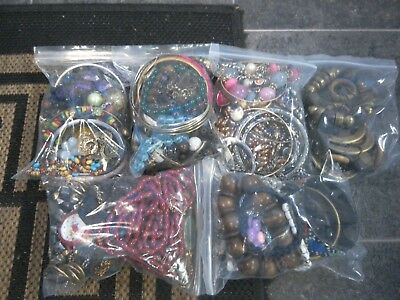 Lot of MIXED COSTUME JEWELLERY Necklaces, Bracelets, Craft  1kg 712grams