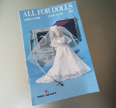 Vintage ALL FOR DOLLS Crochet and Knitting Patterns Booklet