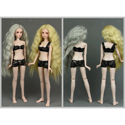 1/4 Black Lace Brace Underwear Top Brief Lingerie Set for BJD Doll Clothes