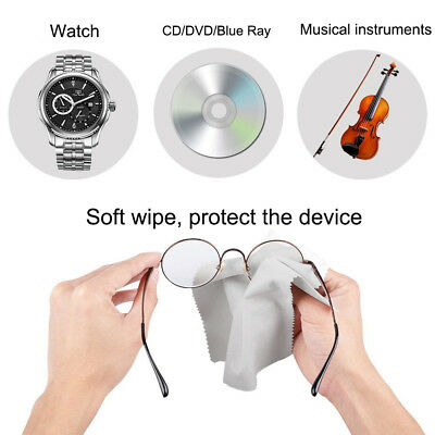 10x Microfiber Cleaning Cloth Wipe Towel f. Phone Screen Camera Lens Eye Glasses
