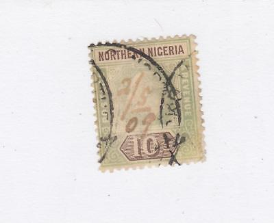 NORTHERN NIGERIA # 18 LIGHT USED  QUEEN VICTORIA 10sh CAT VALUE $60+