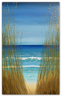 Peeking Through the Sea Grass original painting textured modern art amanda dagg