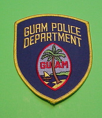 Guam ( Gold Border Type 2 )   Police Patch  Free Shipping!!!