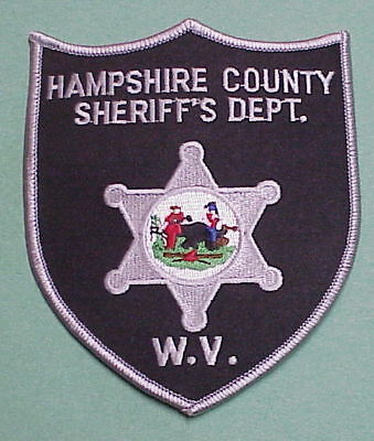 Hampshire County  West Virginia  Wv  Sheriff /  Police Patch  Free Shipping!!