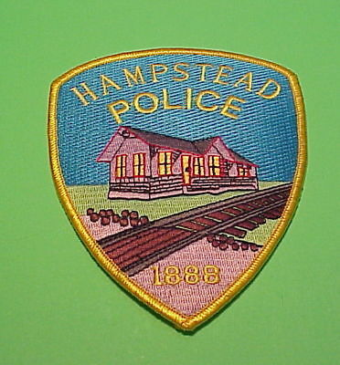 Hampstead  Maryland  Md  ( Color / Gold Border )  Police Patch   Free Shipping!!
