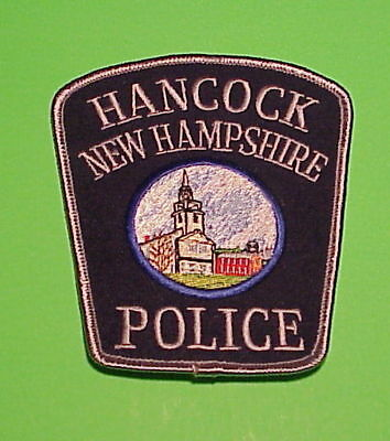 Hancock  New Hampshire  Nh  ( Silver Border / Silver Letters )   Police Patch