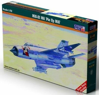 MiG 21 MA/MF 'PIN UP GIRL' (CZECH, SLOVAK & POLISH AF MARKINGS) 1/72 MISTERCRAFT