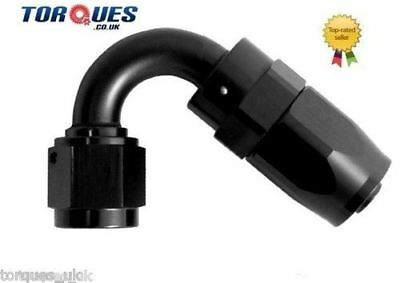 AN -4 (AN4 AN 04) 120 Degree Fast Flow Hose Fitting in Stealth Black