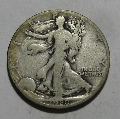 1920 S Walking Liberty Half Dollar - Very Good Condition - 21SU-2