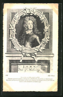 Ansichtskarte John, Duke of Marlborough, Portrait des Autors