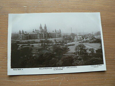 Old Photo Postcard: Kelvingrove Park + Art Galleries, Glasgow, Scotland