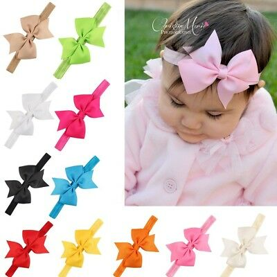 20Pcs Baby Girl Headbands with Bow Cute Elastic Hair Wrap for Newborn Infant