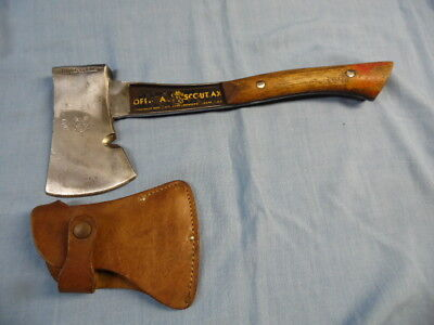 VINTAGE BRIDGEPORT OFFICIAL BOY SCOUT AX / HATCHET w/ A SHEATH!