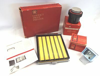 Collection of Vintage PATERSON Contact Proof Printer, Accessories & Boxes - B25