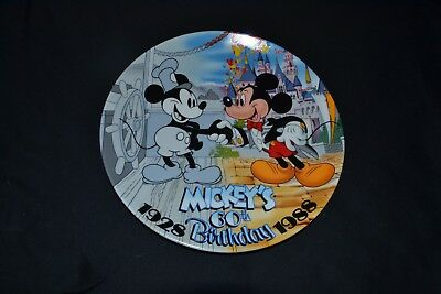 Walt Disney World Collector's Plate Mickey Mouse 1988 60th Birthday
