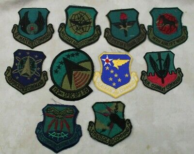 Lot Of 10 Original Us Air Force Usaf Patches - Airlift Command