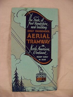 1930's Now Building New Hampshire Aerial Tramway Cannon Mountain Brochure Notch