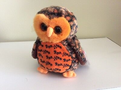 Ty Beanie Baby BOO WHO? the Halloween Owl Hallmark Exclusive MWMTS