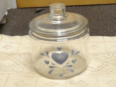 HP BIRDHOUSE COOKIE JAR//CANISTER-GLASS NEW BY MB
