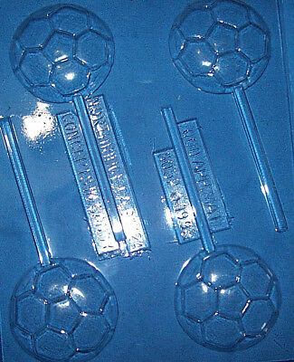Four Medium Sized Soccer Ball Shapes Chocolate Mould Or Chocolate Lollipop Mould