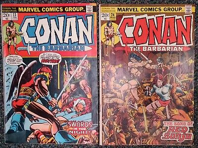 Conan the Barbarian Lot - 23 (1st app. Red Sonja); Conan 24 (1st full Red Sonja)