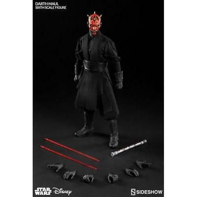 """1/6 Scale 12"""" Star Wars Darth Maul Duel on Naboo Action Figure Sideshow NEW Toys"""