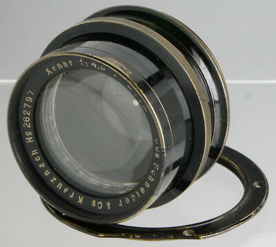 Schneider Xenar 240/4.5 _ antique German brass lens for wood Plate Field cameras