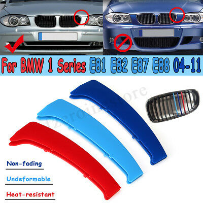 For Bmw 1 Series E81 E82 E87 E88 2004–2011 M Color Grill Grille Strip Cover Trim
