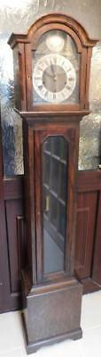 glass fronted oak westminster whittington grandmother clock