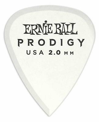 Ernie Ball 9202 Prodigy Standard Plektrum 2,0mm 6er Pack Guitar Delrin Weiß
