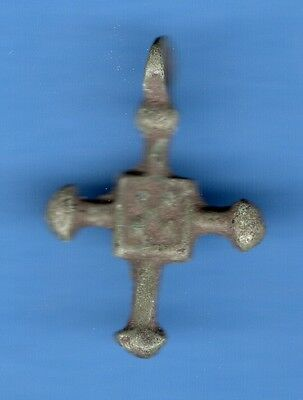 Russia Kiev type Bronze Cross Pendant Viking time 10-12th ca 1100 AD RARE 422