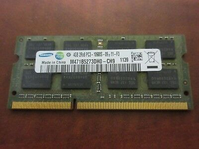 Samsung 4GB (1 Stick) M471B5273DH0-CH9 204-Pin PC3-10600 DDR3 1333 Laptop SODIMM