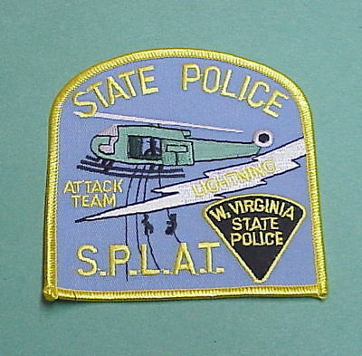 West Virginia  Wv  ( Helicopter )  Attack Team   S.p.l.a.t.   State Police Patch