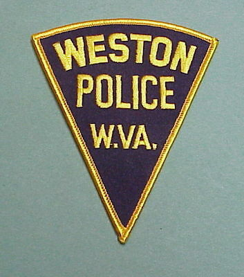Weston  West Virginia  Wv  Police Patch  Nice!    Free Shipping!!!