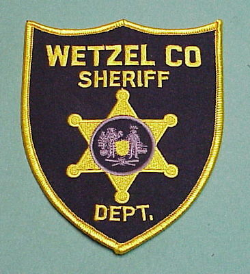 Wetzel County  West Virginia  Wv  Sheriff /   Police Patch   Free Shipping!!!