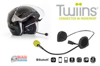 Twiins D2 Moto Scooter Mains Libres Bluetooth Communication Système