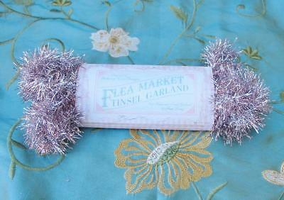 Bethany Lowe Pale Pink Flea Market Tinsel Feather Tree Garland 9 ft Easter Xmas
