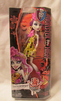 "Monster High Spectra Vondergeist Ghouls Getaway Daughter of a Ghost 10"" Doll NEW"