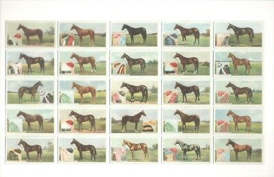 Postcard with 25 Famous Racehorses on it