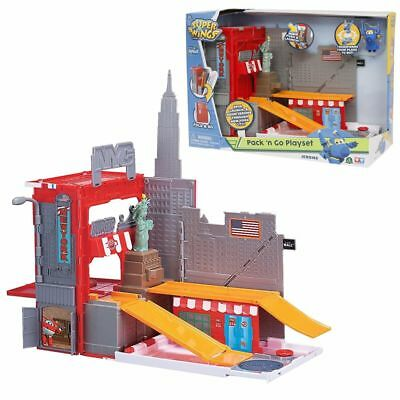 New York Stunt Pack ´n Go | Spielset | Super Wings | mit Spielfigur Jerome