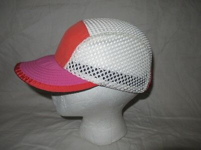 PATAGONIA DUCK BILL Hat Cap Cycling Running Made In USA White Blue ... 4f901abcb383
