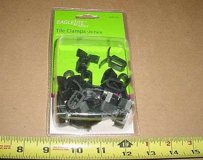 20 CEILING TILE CLAMPS 2x4 SUSPENDED HANGER GRID DROP FLAT PLASTIC FREE SHIPPING