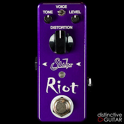 New Suhr Effects Riot Mini Overdrive  Distortion Electric Guitar Fx Pedal