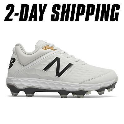New Balance Baseball Low 3000v4 Plastic Molded Cleats White PL3000W4 *2-DAY SHIP