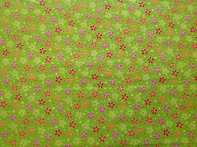 ~FLANNEL~Purple~Flowers~Bright~Daisies~Quilting~Fabric~Flannelette~Girls~FQ