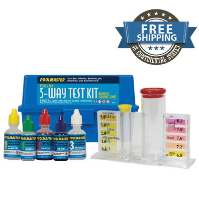 5 Way Chemistry Test Kit For Swimming Pool & Spa Water With Case Collection