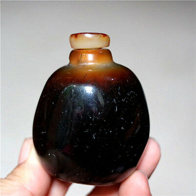 Exquisite Hand-carved Natural Rough Nodules Agate Snuff Bottle - BRAZIL